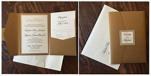 pocket wedding invitations erickson design With wedding invitation pockets canada