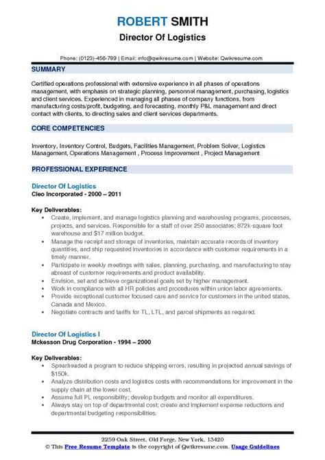 logistics resume samples examples  tips