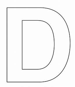 5 best images of letter d printable template free With letters templates cut out