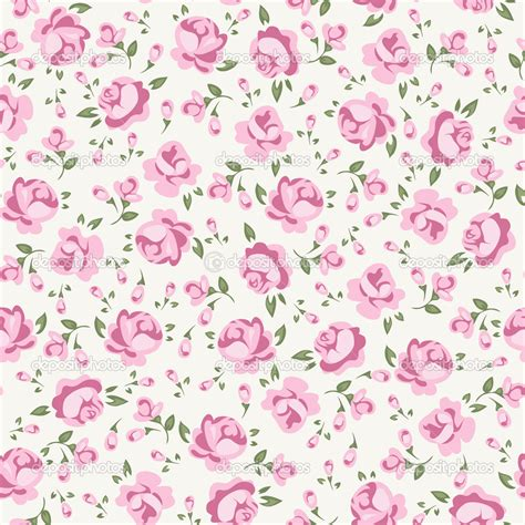pink shabby chic wallpaper shabby chic rose stock vector 14499451 fashion illustrations pinterest flower