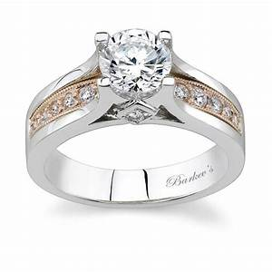 barkev39s two tone engagement ring 7173l With two toned wedding ring sets
