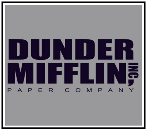 The Office Tv Show Dunder Mifflin Paper Company Dwight