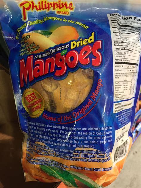 philippine brand dried mangoes  panel description