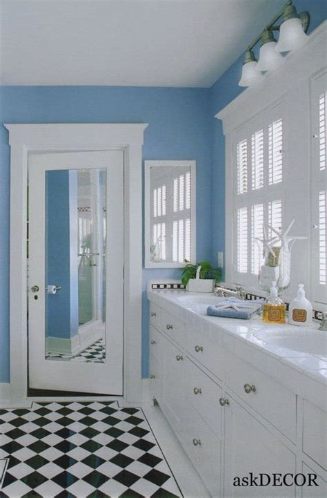adorable light blue wall colorful kids bathroom  white