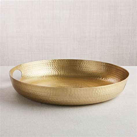 Bash Gold Tray   Reviews   Crate and Barrel