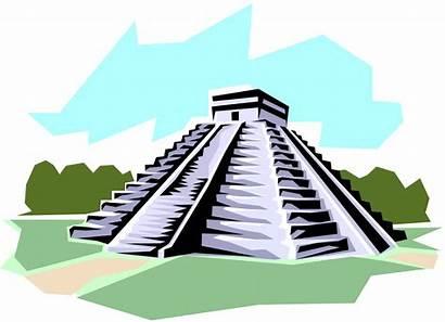 Mayan Pyramid Clip Clipart Maya Aztec Temple