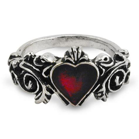 gothic heart wedding ring gothic victorian engagement pewter ring