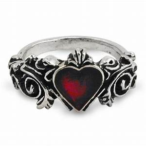 gothic heart wedding ring gothic victorian engagement With pewter wedding rings