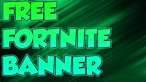 fortnite banner template youtube