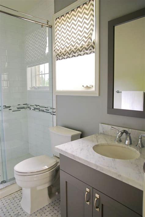 chevron bathroom ideas gray chevron shade contemporary bathroom rambling renovators