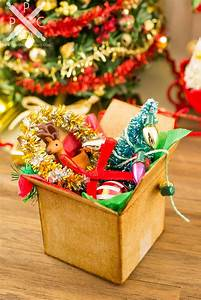 Dollhouse, Miniature, Christmas, Decorations, In, Cardboard, Box, -, 1, 12, Dollhouse, Miniature