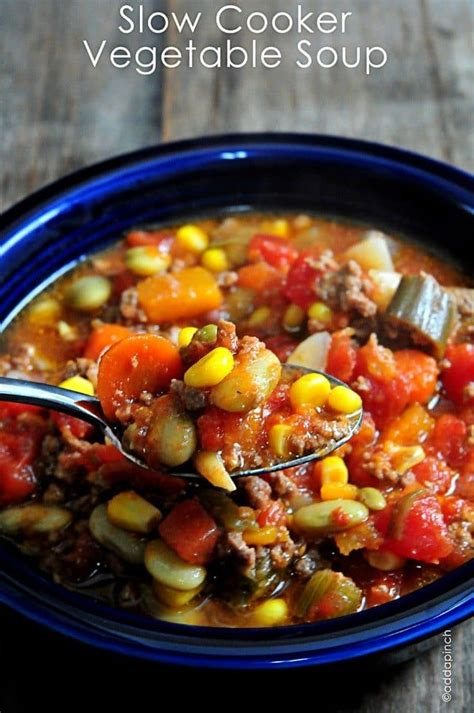 slow cooker vegetable soup recipe add  pinch