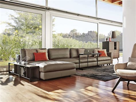 Modular Leather Sofa With Chaise Longue Urban