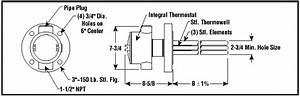 Medium Weight Oil Application Flanged Immersion Heater