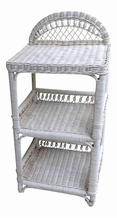 Shelf Wicker Chairish Wood Unit Shelves
