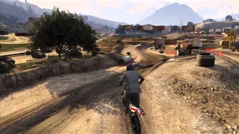 gta  circuit de moto cross cacher youtube