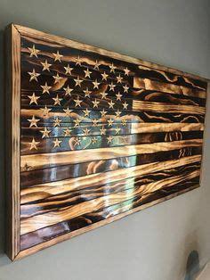 Small dark wood and glass coffee table. RYOBI NATION - Rustic Flag Coffee Table