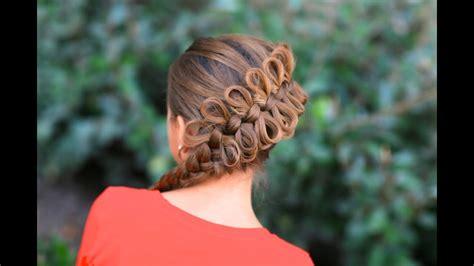 create  diagonal bow braid youtube