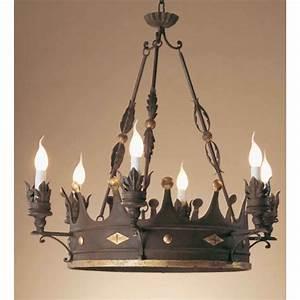 Lustre En Fer Forgé : grand mod le de lustre couronne en fer forg lustres ~ Dailycaller-alerts.com Idées de Décoration