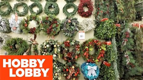 christmas items you tube wreaths 2018 at hobby lobby wreaths and garland shopping decorations home decor