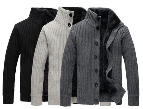 2018 Shanghai Story Autumn Winter Men's Cardigans Plus Fleece Full Sleeve Warm Waistcoat Male