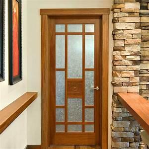 Wooden Glass Double Door Hpd477 - Glass Panel Doors - Al