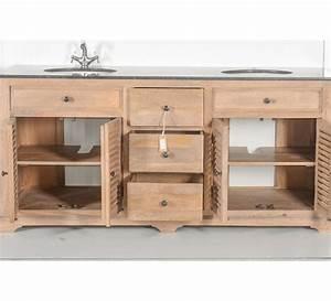 Meuble De Salle De Bain En Bois Massif : meuble double vasque 7030 ~ Edinachiropracticcenter.com Idées de Décoration