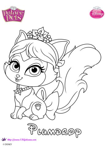 plumdrop princess coloring page  printable coloring