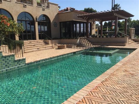 swimming pool tiles  shades  green  blue