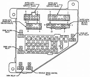 Eagle Vision  1993 - 1994  - Fuse Box Diagram