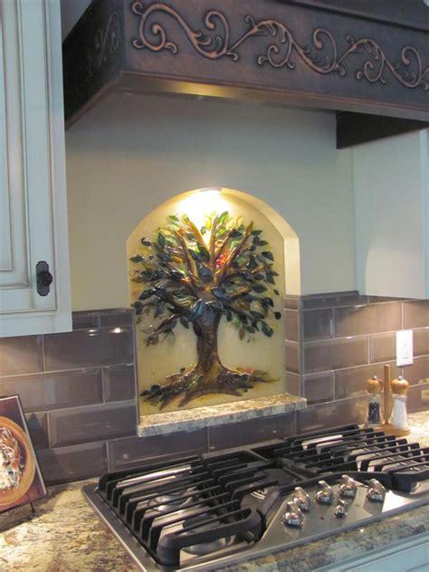 tree  life kitchen backsplash designer glass mosaics
