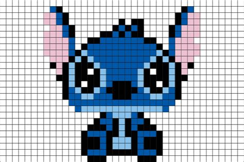 stitch disney pixel art brik