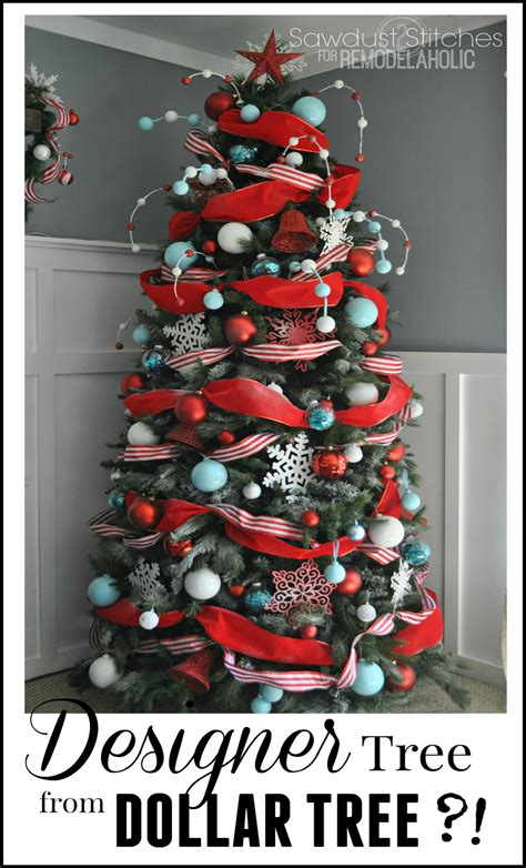 remodelaholic   decorate  christmas tree