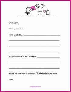 Here39s a quick mother39s day printable letter template for Mother s day letter template
