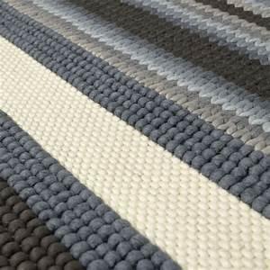 tapis mood tisse main gris et beige angelo 140x200 With tapis tissé gris