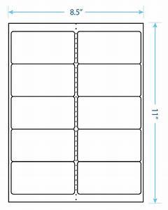 4 U0026quot  X 2 U0026quot  Laser  U0026 Inkjet Printable Label W  Template  10 Up