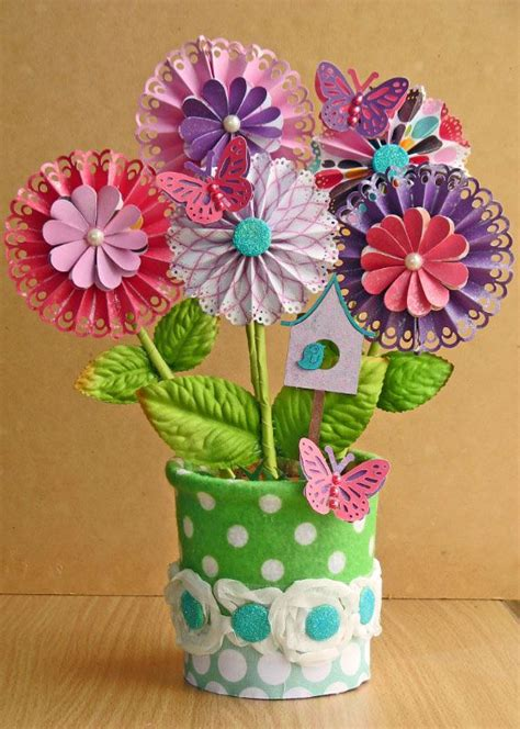 potted paper flower ideas 17 best images about flower tutorials scrapbooking on flower embellishments and