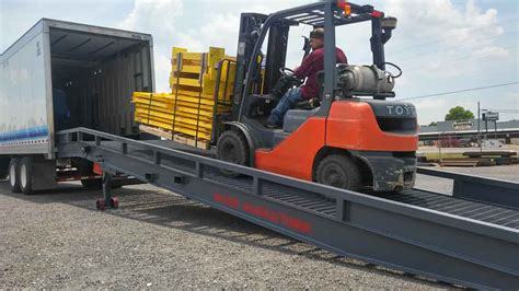 Ground To Dock Or Ground To Truck Ramps