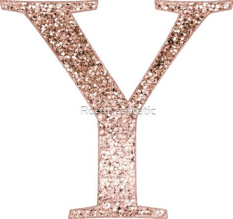 rose gold glitter monogram letter stickers  roseaesthetic redbubble
