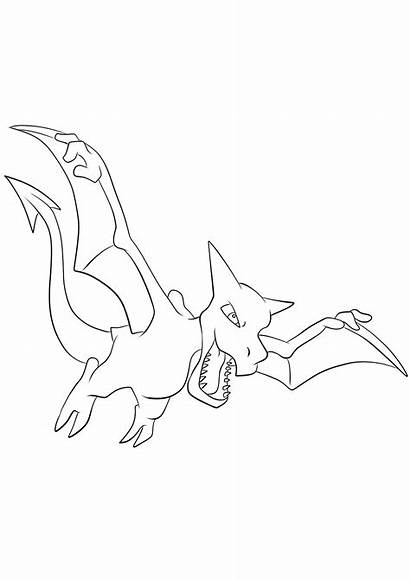 Pokemon Aerodactyl Coloring Generation Rock Pages Type
