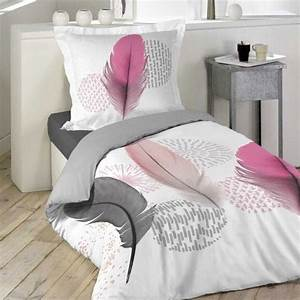 Housse De Couette Rose Pastel : housse de couette et taie pink dream 100 coton 140 cm ~ Teatrodelosmanantiales.com Idées de Décoration