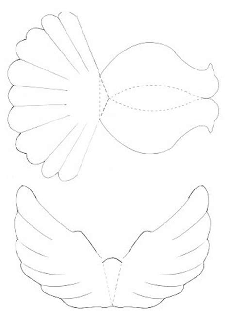 diy paper dove  printable template mashusticcom