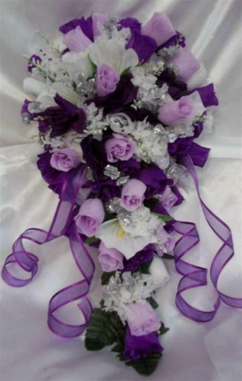 pcs purple lavender white  silver wedding bridal