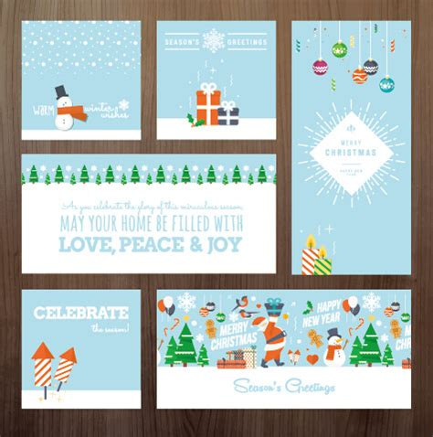 happy  year greeting cards  vector