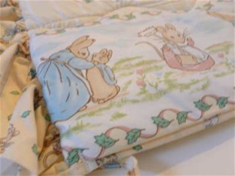 vintage beatrix potter peter rabbit crib nursery bedding