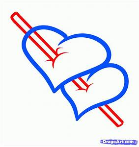 Draw Arrow Hearts, Step by Step, Drawing Sheets, Added by ...