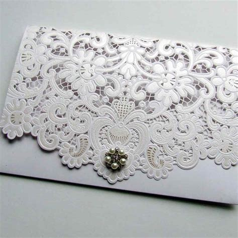 laser cut wedding invitations laser cut pocketfold wedding invitation wedding