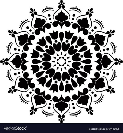 The layered mandala in the truck bed is from moni. Stencil mandala vector image on