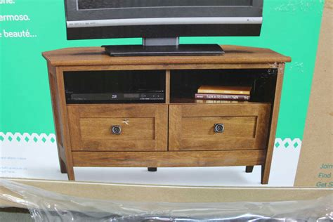 Tv Stand Template by Sauder August Hill Corner Tv Stand Oiled Oak Finish Ebay