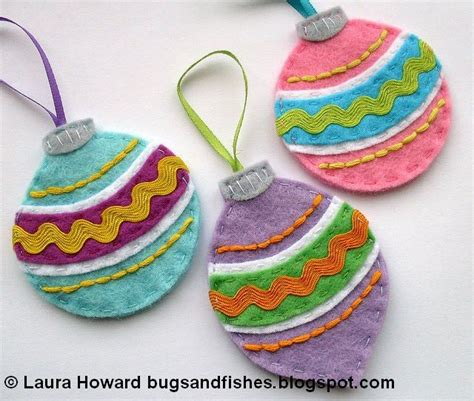 bugs and fishes by lupin how to vintage felt baubles